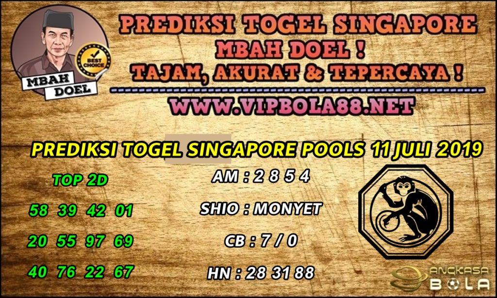 PREDIKSI TOGEL SINGAPORE POOLS 11 JULI 2019
