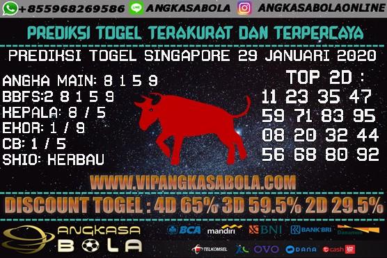 PREDIKSI TOGEL SINGAPORE 29 JANUARI 2020