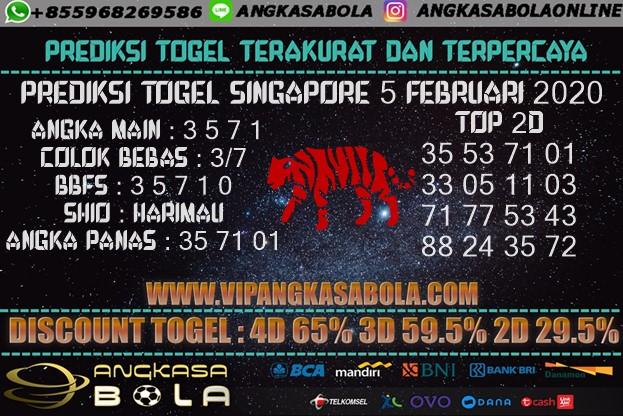Prediksi Togel SINGAPORE 5 FEBRUARI