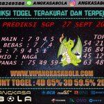 PREDIKSI TOGEL SINGAPORE 27 September 2020